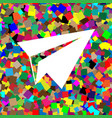 paper airplane sign white icon on vector image