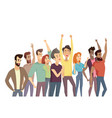 people crowd and passtime vector image