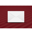 plain envelope red background vector image vector image