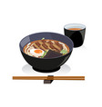 pork belly udon vector image vector image