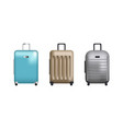 set of clip art suitcases vector image vector image
