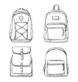 Set of different types backpacks vector image vector image