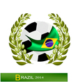 Soccer Ball with Laurel Wreath in Brazil 2014 vector image vector image