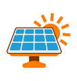 solar battery icon sun energy label for web on vector image