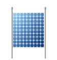 solar panels outdoor suare building vector image