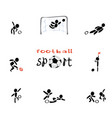 sports game of football vector image