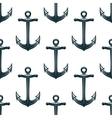 Vintage blue naval anchors seamless pattern vector image