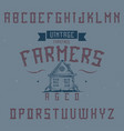 Vintage label font named farmers