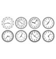 vintage round clock face antique clocks with vector image