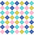 vintage seamless pattern with soft color rhombus vector image