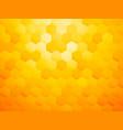 yellow hexagon abstract background vector image vector image