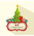 happy merry christmas tree vector image