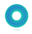 blue business abstract circle icon for your design vector image