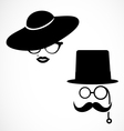Retro Hipster Lady and Gentlemen vector image