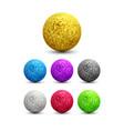 color shiny metallic spheres set vector image