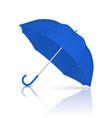 3d realistic render blue blank umbrella vector image vector image