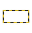 3d warning striped rectangular background vector image
