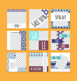 abstract arabic advertising cards set vector image vector image