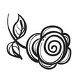 abstract rose icon simple style vector image