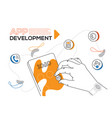 app development - colorful flat design style web vector image