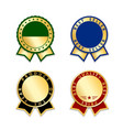 award ribbons isolated set gold red design medal vector image vector image