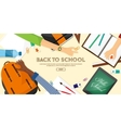 back to school flat background online education vector image vector image