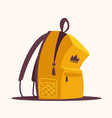 backpack for school or travel cartoon vector image