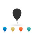 balloon with ribbon icon on white background vector image