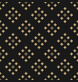 black and gold geometric seamless pattern with vector image vector image