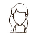 blurred silhouette caricature faceless front view vector image vector image