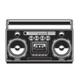 boombox isolated on white background design vector image vector image