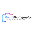 booth photography logo template vector image