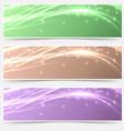 Bright shimmering glitter headers set templates