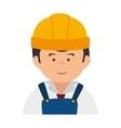 builder construction worker vector image