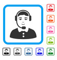 call center operator framed glad icon vector image vector image