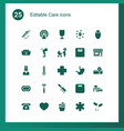 care icons vector image vector image