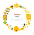 cartoon honey banner card vector image vector image