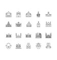 church line icons signs set outline vector image vector image