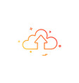 cloud up design vector image vector image