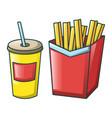 cola and fri icon cartoon style vector image vector image