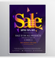 creative sale poster banner design template in vector image vector image