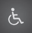 cripple sketch logo doodle icon vector image vector image