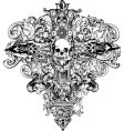 Cross skull illustration vector | Price: 1 Credit (USD $1)