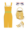 cute set of summer wear color vector image vector image