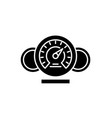dashboard black icon sign on isolated vector image vector image