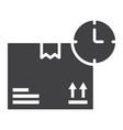 delivery time glyph icon logistic and delivery vector image vector image