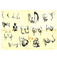 diversity of women-s breasts vector image