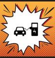 electric car battery charging sign comics vector image