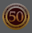 fiftieth happy anniversary celebration logo symbol vector image