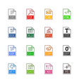 file type icons - texts fonts and page layout vector image vector image